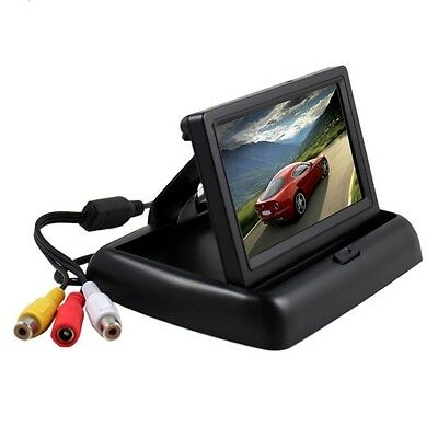 "Foldable 4.3"" Anti-Glare LCD TFT Reverse Rear View Monitor Camera Display Screen"