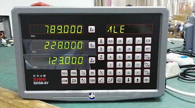 3-Axis Digital Readout DRO SINO SDS6-3V for Lathe Spark and Milling nachine Y