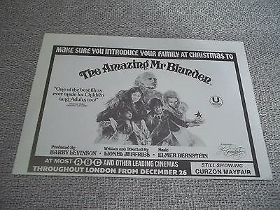 """VINTAGE 1970s PROMO LONDON MOVIE PRINT AD FOR """"THE AMAZING MR BLUNDEN"""" 9""""X6"""""""