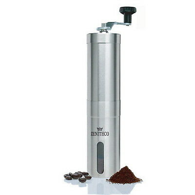 ZENITHCO BEANSUP Ceramic Hand Coffee Mill Mini Coffee Grinder Stainless KF01 NEW