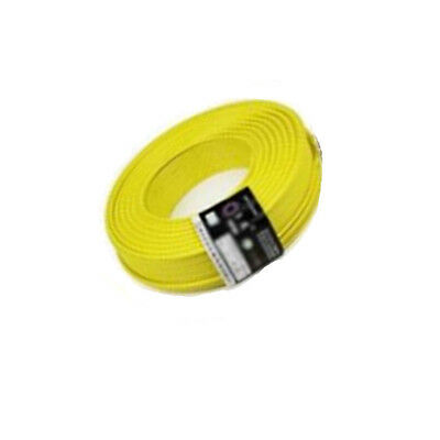 Yellow 10M UL-1007 24AWG Hook-up Wire 80°C / 300V Cord DIY Electrical ME