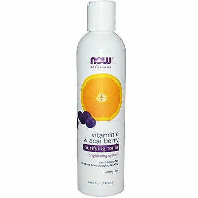 Now Foods, Solutions, Purifying Toner, Vitamin C