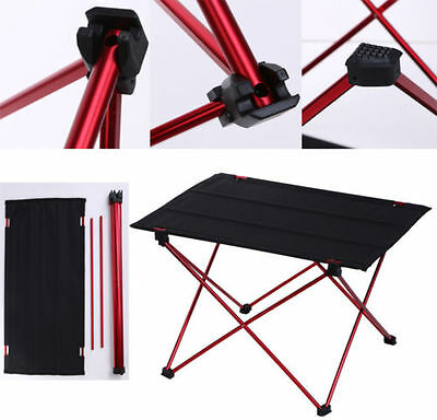 Aluminum Roll Up Table Folding Camping Outdoor Garden Indoor Picnic with Bag New