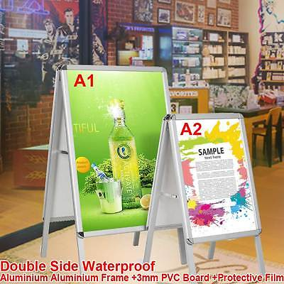 A1 A2 Board Pavement Sign Poster Snap Frame Double Side Sign Snap Display Stands
