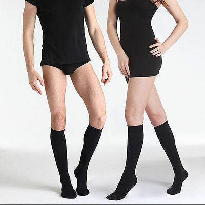 3pairs Unisex Students Knee Socks Comfy Relief Flight Travel Cotton Cosplay NEW