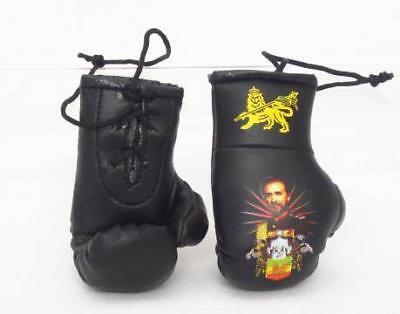 Mini Boxing Gloves Hailie Selassie Leather Style Car Mirror Accessories