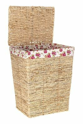 Large Deluxe Wicker Laundry Basket Washing Hamper Bin Clothes Storage Box Lid