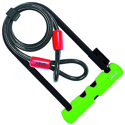 Abus Ultra 410 Bike D Lock with 1.2m Security Cable - Sold Secure Silver