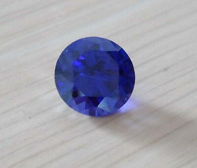 Wholesale! AAAAA Blue Sapphire Round Faceted Cut VVS Loose Gemstone U Pick Size