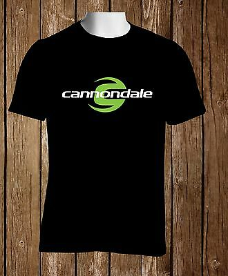Black T-shirt Cannondale Mountain Sport Bikes Men's Black Tshirt S to 3XL