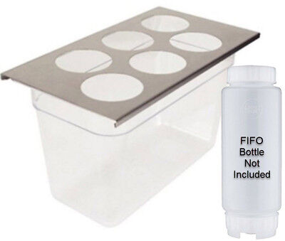 FIFO 7010-600 6-Hole Bottle Organizer for 1/3-Size Insert Pan - Pair (2)