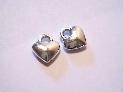 BULK Charms Heart Charms Antiqued Silver 100 pieces Wholesale Charms