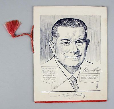 1957 Red Sox Great Heart Award Dinner Program Signed by 32 Players – JSA