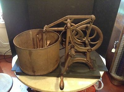 1880's Antique Starrett Hasher Mechanical Food Chopper - Large Size & WORKS!!!