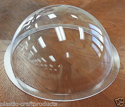 "USA ** Acrylic Dome / Plastic Hemisphere - Clear - 14"" Diameter with 1"" Flange"