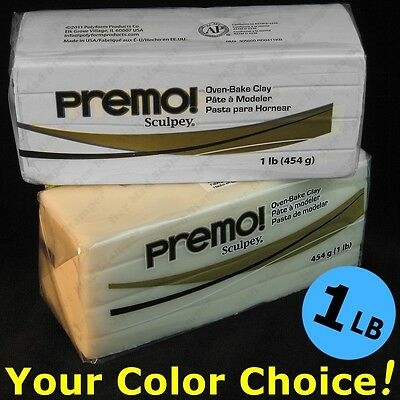 PREMO SCULPEY oven-bake polymer modeling clay ONE POUND 1 LB