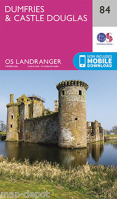 DUMFRIES & CASTLE DOUGLAS LANDRANGER MAP 84 - Ordnance Survey - OS -NEW 2016