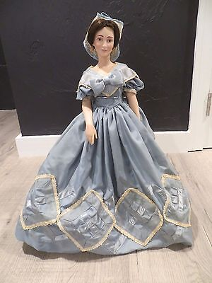 "Franklin Mint Melanie Porcelain Doll 19"" Gone With The Wind RARE 1980 FREE SHIP"