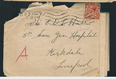 "1919 4th Reserve Batalion,WITLEY CAMP,Surrey,Red ""A"" on Cover+ Letter,Military"