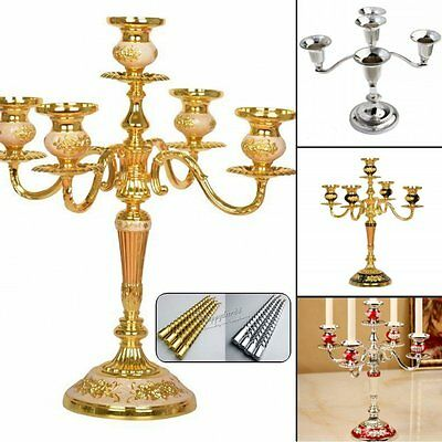 3Arms/5Arms Candelabra Candle Holders for Wedding Home Party Christmas Decor