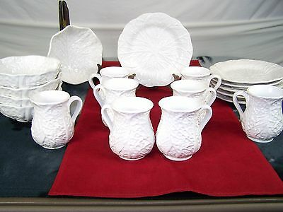 Block Subtil Portugal Blo15 Set Of 19 Dishes White Glazed Leaf Design