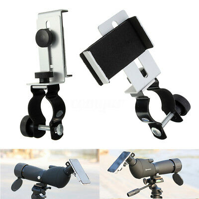 1Pc Black & Silver Metal Astronomical Telescope Connecting Cell Phone Holder