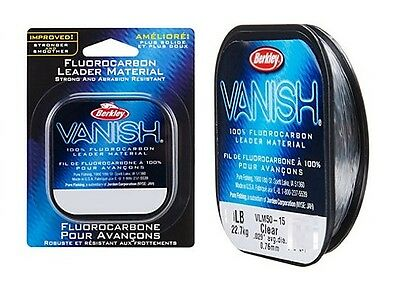 Berkley Vanish Leader 100% Flourocarbon 4lbs -100 lbs Leader MADE IN USA NEW
