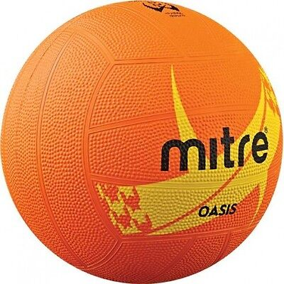 Mitre Oasis Orange Nylon Wound School Training Netball Size 5