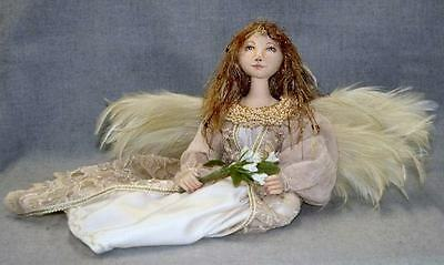 """*new* Cloth Art Doll (E-Pattern) """"seated Angel"""" By Judy Skeel"""