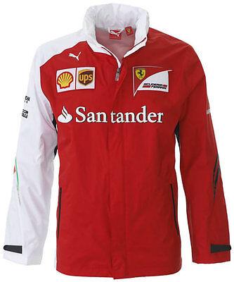 Sale! 2016 Ferrari Formula One F1 Mens SF Team Lightweight Rain Jacket Coat
