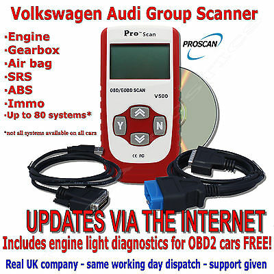 Code Scanner Engine ABS Airbag Diagnostic Scan Tool for VW Seat Skoda Audi Reset