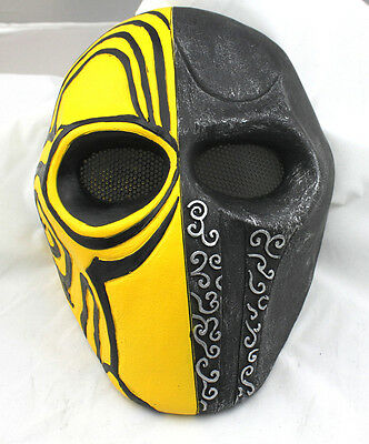 Nice Fiber Resin Wire Mesh Eye Airsoft Paintball Full Face Protection Mask PROP