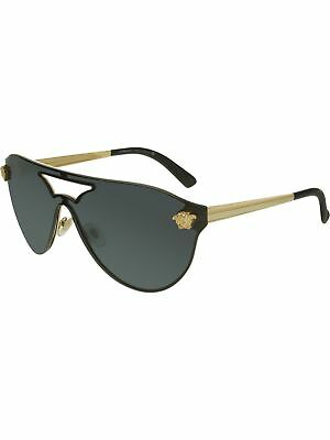 Versace Women's VE2161-100287-42 Black Shield Sunglasses