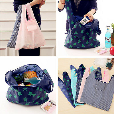 New Shopping Travel Shoulder Bag Pouch Tote Handbag Folding Reusable Bags