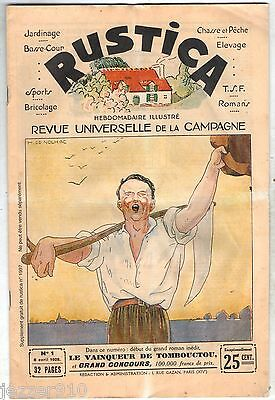 FAC SIMILE DU RUSTICA n°1 de  1928 - SUPPLEMENT DU n°1997