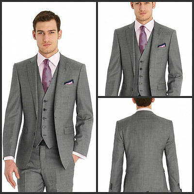 Three Piece Groom Tuxedo Bridegroom Business Dinner Formal Suit Wedding Men Suit