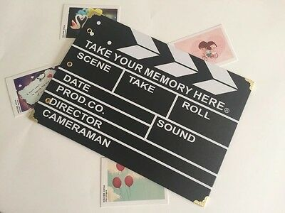 DIY 30Pages 19.5 x 26.5cm Kraft Photo Album Scrapbook Movie Plaque Clapper