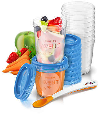 Philips Avent 20 Reusable Food Storage Pots 180ml and 240ml