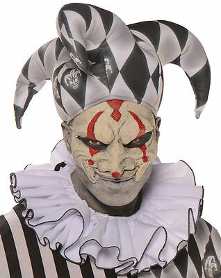 Clown Collar Black White Ruffled Adult Harlequin Halloween Costume Accessory New