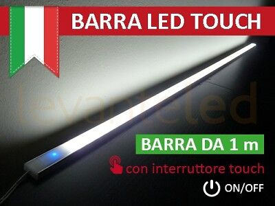 Barra Led Touch Alluminio Sotto Pensile Cucina ON/OFF chip SAMSUNG Luce NATURALE