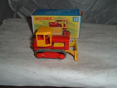 Matchbox Superfast #16 Case Tractor Bulldozer With Its Box See The Pictures