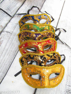 10 MARDI GRAS masquerade party props Venetian MASKS mask lot HALLOWEEN COSTUME ⭐