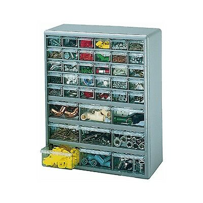 Stack-On DS-39 39 Drawer Storage Cabinet (Gray) 39 Drawers