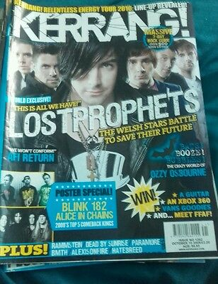 How much are Kerrang and Mojo magazine?