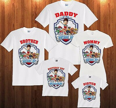 Paw Patrol Birthday Shirt Personalized Custom T Shirt Family and kids shirts