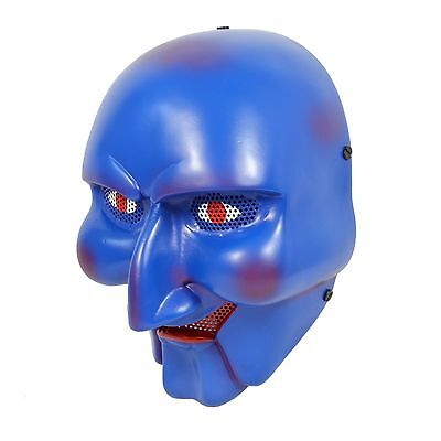 Durable Fiber Resin Wire Mesh Eye Airsoft CS Paintball Protection The Clown Mask
