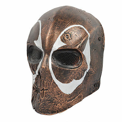 Airsoft Paintball CS Wire mesh Full Face Protection Skull Cosplay Halloween Mask