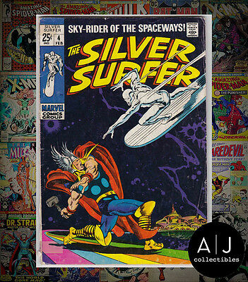 The Silver Surfer #4 (|W Marvel B|) VG! HIGH RES SCANS!