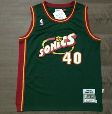 Shawn Kemp 40 Seattle Supersonics 1995-96 Green Vintage Adult Jersey S-2XL