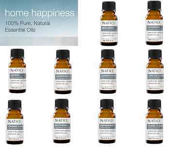 Natio Home Happiness 100% Pure Natural Essential Oils 10mL ::10 To Choose From::